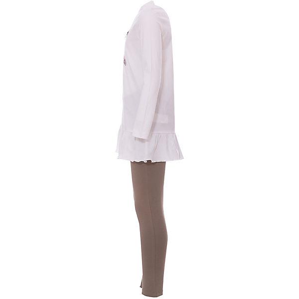 Комплект: футболка с длинным рукавом,лосины Original Marines для девочки