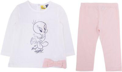 Комплект: футболка с длинным рукавом,лосины Original Marines для девочки - розовый
