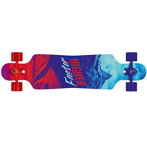 Longboard Freeride Curve 39 Higher-Faster, rot-blau, Streetsurfing ...