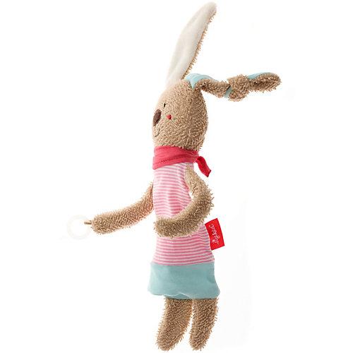 Игрушка-комфортер Sigikid Розовый Заяц с держателем для соски, коллекция Классик, 28,5 см от Sigikid