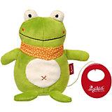 Музыкальная Мягкая игрушка Sigikid,  Лягушка, коллекция Классик, 17 см