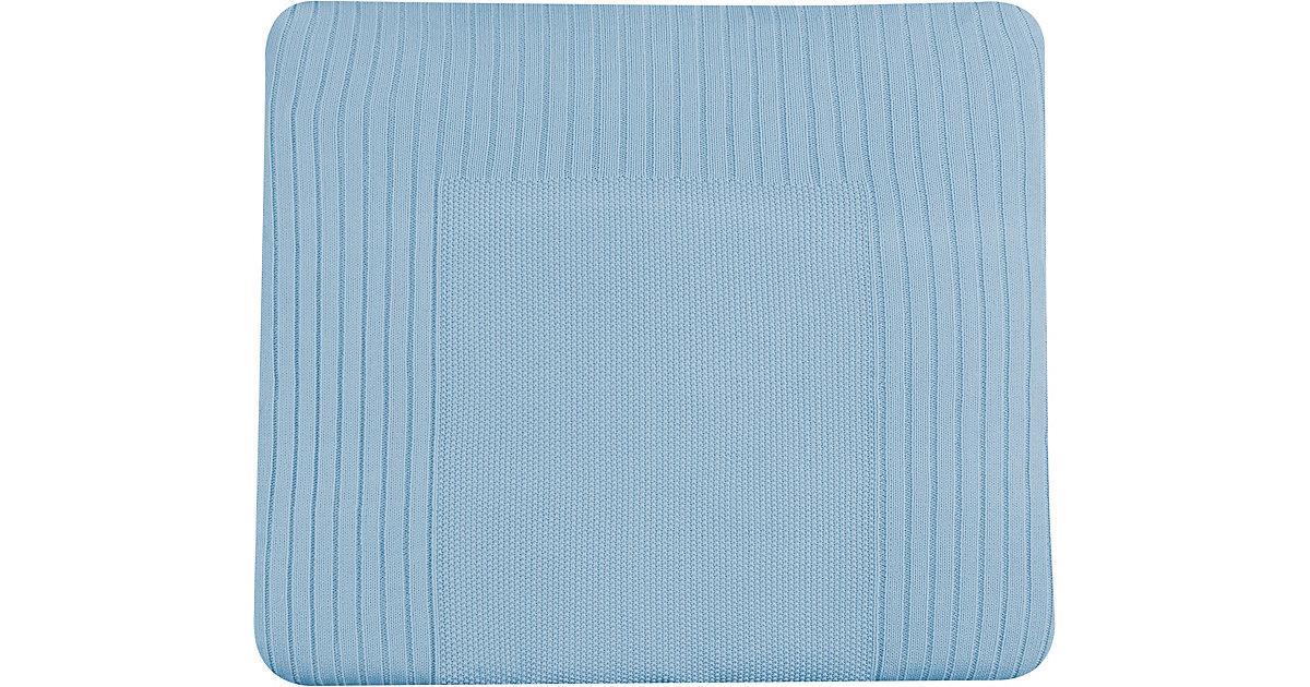 Schardt · Strickbezug Wickelauflage, hellblau, 84 x 74 cm Kinder
