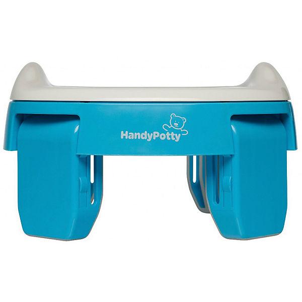 """Дорожный горшок Roxy-kids """"HandyPotty"""" голубой."""