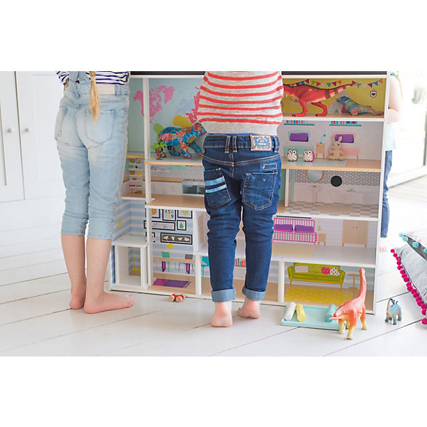 Plum® 2-in-1 2-in-1 Plum® Stadthaus - Spielküche und Puppenhaus aus Holz, plum f3badd