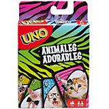 """Настольная игра Mattel Games Uno """"Уно Маленькие животные"""""""
