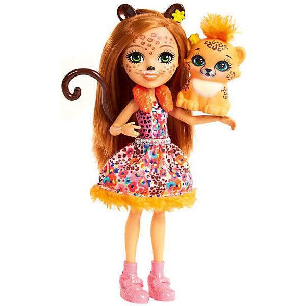 """Мини-кукла Enchantimals """"Любимая зверюшка"""" Чериш Гепардини и Шустрик"""
