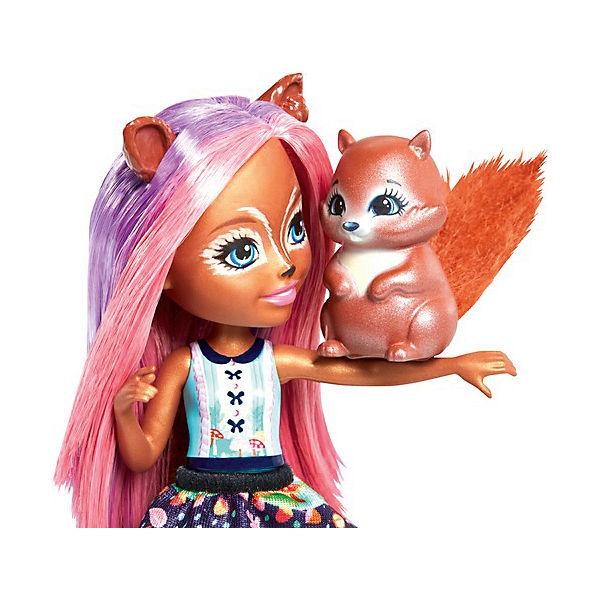 """Кукла Enchantimals """"Любимая зверюшка"""" Санча Сквирелл и Стампер"""