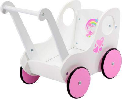 Möbel Puppenwagen weiß Babypuppen & Zubehör