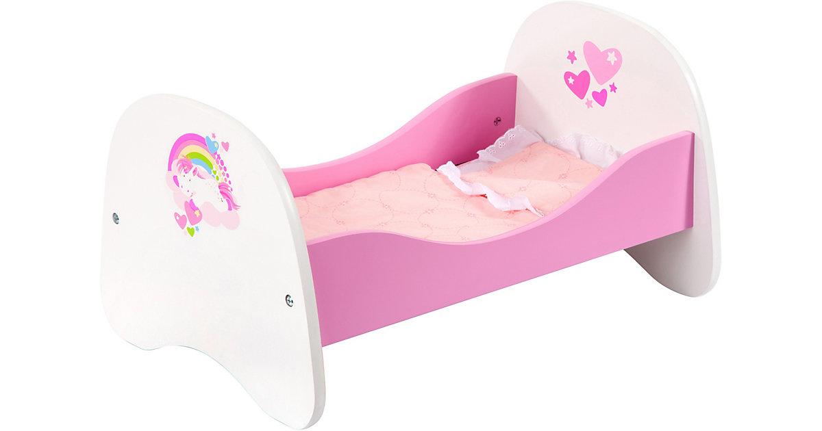 Puppenbett weiß/rosa