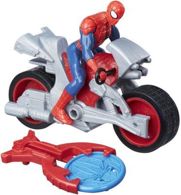 Фигурка с транспортным средством Marvel Spider-man Человек-паук на мотоцикле
