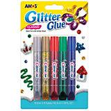 """Глиттер оформительский Amos """"Классический"""", 5 цветов по10,5 мл."""