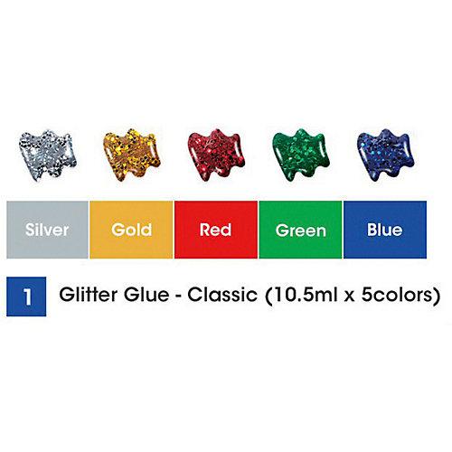 """Глиттер оформительский Amos """"Классический"""", 5 цветов по10,5 мл. от Amos"""