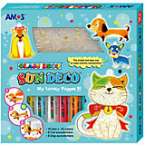 """Набор витражных красок Amos """"Собаки и кошки"""", 10 цветов по 10,5 мл"""