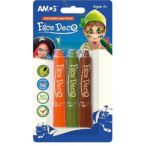 """Мелки-грим Amos """"Робин Гуд"""", 3 цвета - синий от Amos"""