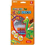 """Набор витражных красок Amos """"Динозавры"""", 6 цветов по 10,5 мл"""