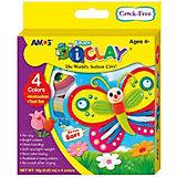 МАССА iClay Amos  д/лепки  в наборе 4 цв. по 18 гр.