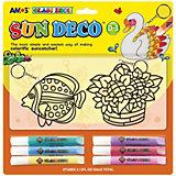 Набор витражных красок Amos, 6 цветов по 10,5 мл