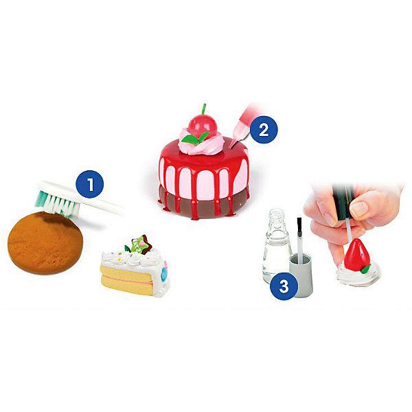 "МАССА iClay д/лепки Amos ""Маленький кондитер"",6 цв. по 18 гр,2 витражн.краски,. 3D пекарня"