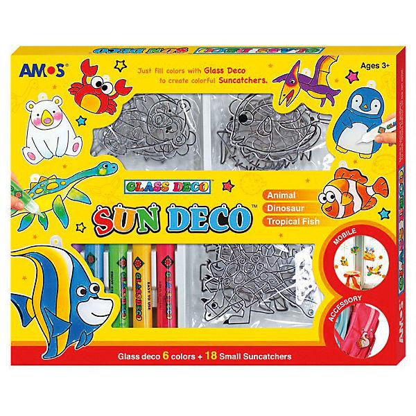 """Набор витражных красок Amos """"Мини-витражи"""", 6 цветов по 10,5 мл"""