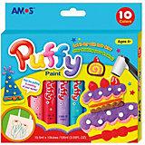"Объёмные краски Amos ""Puffy"", 10 цветов"
