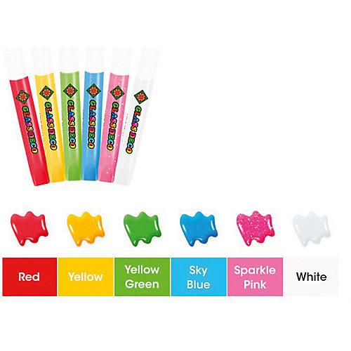 """Набор витражных красок Amos """"Сказочный"""", 6 цветов по 10,5 мл от Amos"""