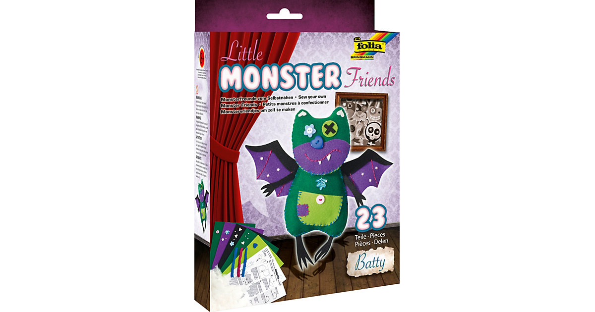 Filz-Bastelset Little Monster Friends Batty