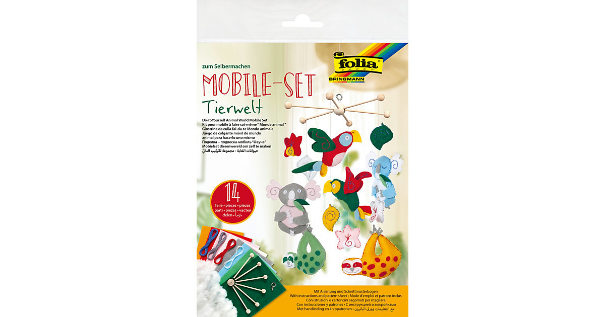 Kreativset Mobile Tierwelt Filz, 14-tlg.