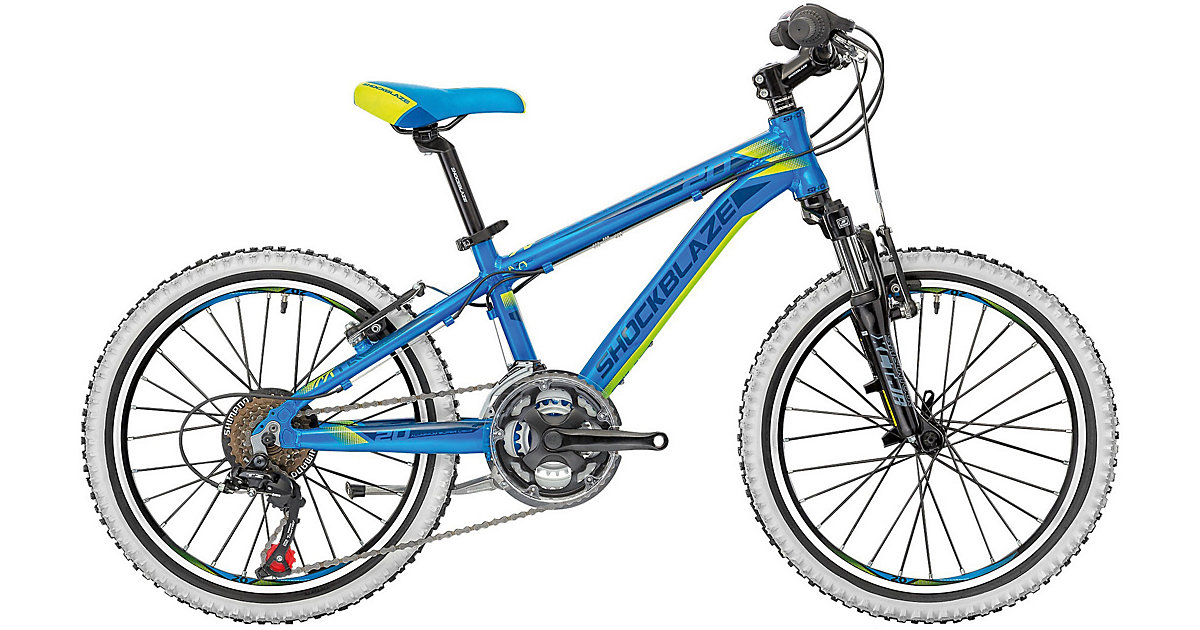 Mountainbike Warrior 18 Gänge 20 Zoll, blau