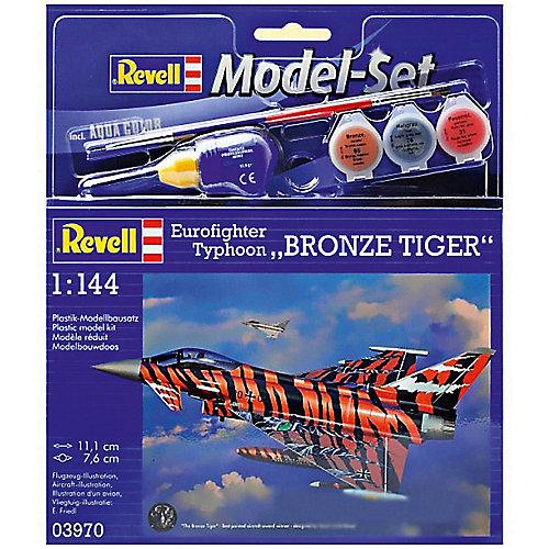 """Сборная модель Revell """"Истребитель Еврофайтер Бронзовый тигр"""" с красками от Revell"""