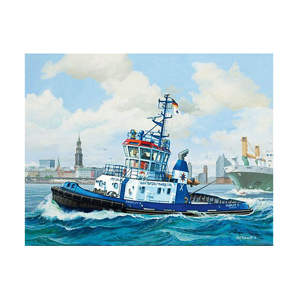 "Сборная модель Revell ""Буксир Harbour"" с красками"