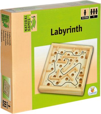 Holz Labyrinth 12x12cm