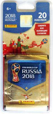 """Наклейки Panini """"FIFA-2018"""", 4 пакета по 5 наклеек"""