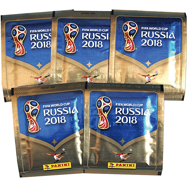 """Наклейки Panini """"FIFA-2018"""", 50 пакетов по 5 наклеек"""