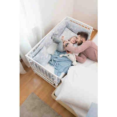 beistell kinderbett micky inkl komfort matratze und ausstattung dessin tiere hellblau. Black Bedroom Furniture Sets. Home Design Ideas