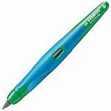 """Перьевая ручка Stabilo """"Easybirdy"""" для правшей, зелено-голубая"""