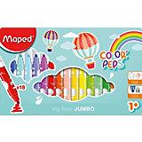 Фломастеры макси Maped «Color' peps jumbo», 18 цветов