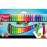 Мелки восковые Maped «Color'peps Wax», 24 цвета