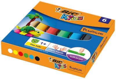 Пластилин BIC «Kids», 6 цветов