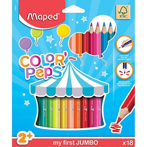 Карандаши цветные Maped «Color pep's Jumdo», 18 цветов