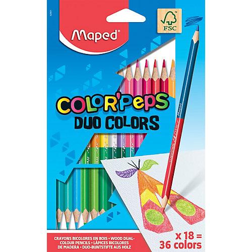 Карандаши цветные Maped «Color' peps Duo», 36 цветов, 18 шт. от Maped
