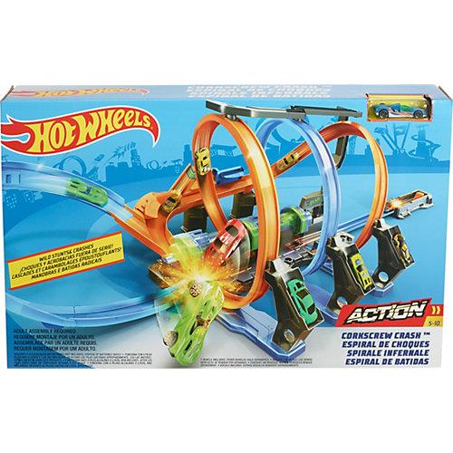 Автотрек Hot Wheels Винтовое столкновение от Mattel