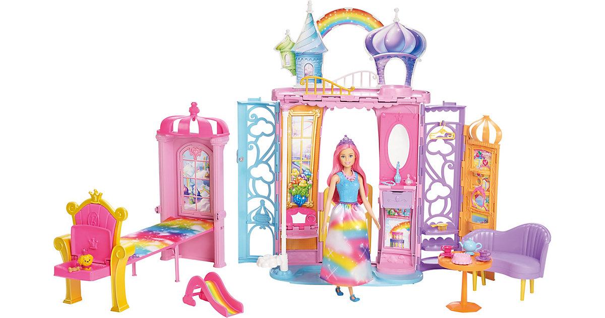 Mattel · Barbie Dreamtopia Regenbogen-Königreich Schloss und Puppe