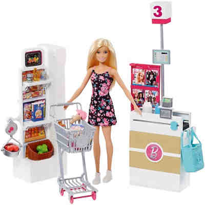 Barbie Supermarkt und Puppe