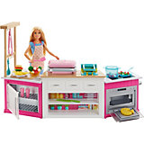 Набор с куклой Barbie Супер кухня