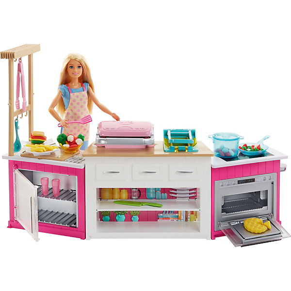 Barbie Cooking Baking Deluxe Küche Spielset Puppe Barbie Mytoys
