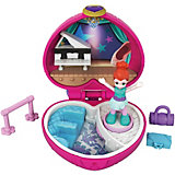 Игровой набор Polly Pocket Smart Stick, розовое сердце