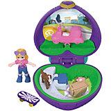 Игровой набор Polly Pocket Smart Stick, фиолетовое сердце