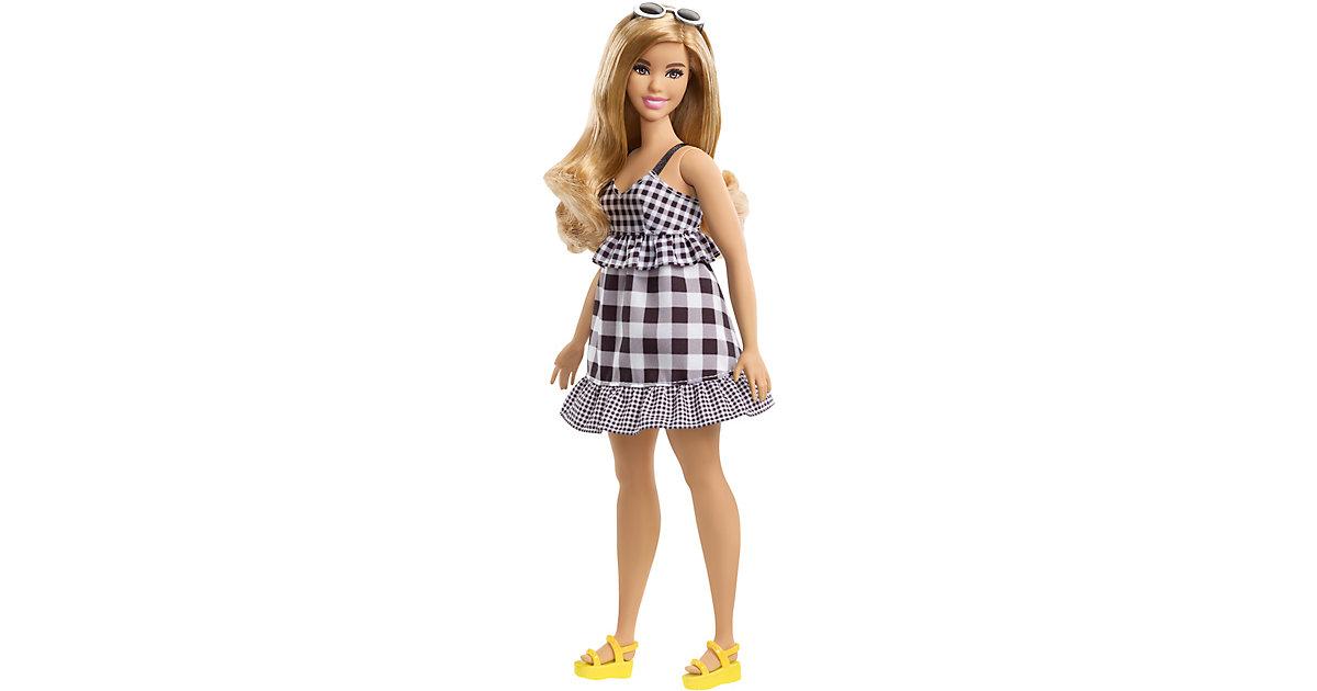 Barbie Fashionistas Puppe im schwarz-weißen Karo-Kleid