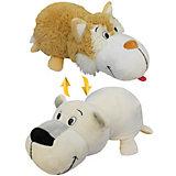 Мягкая игрушка-вывернушка 1toy Бежевый хаски - Полярный медведь, 40 см