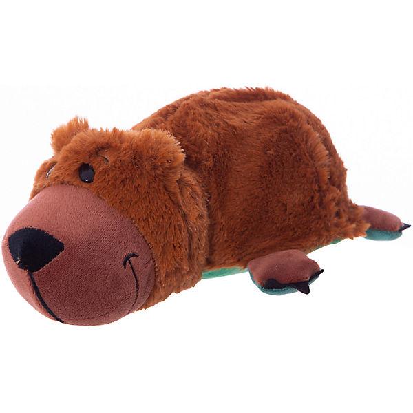 Мягкая игрушка-вывернушка 1toy Аллигатор - Медвежонок, 20 см